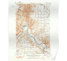 USGS Topo Map Washington State WA Clayton 240551 1944 62500 Poster