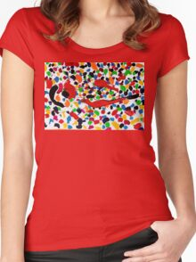 Series brush strokes No. 04/ 2014 Women's Fitted Scoop T-Shirt