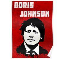 Boris Johnson / Che Guevara Black Hair Poster