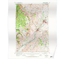 USGS Topo Map Washington State WA Okanogan 242917 1957 62500 Poster