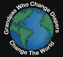 "New Grandpa ""Grandpas Who Change Diapers Change The World"" Dark by FamilyT-Shirts"