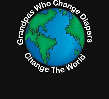 "New Grandpa ""Grandpas Who Change Diapers Change The World"" Dark Unisex T-Shirt"