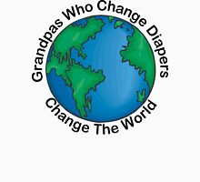 "New Grandpa ""Grandpas Who Change Diapers Change The World"" Unisex T-Shirt"