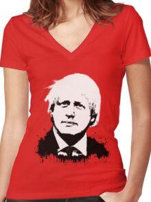 Boris Johnson / Che Guevara Women's Fitted V-Neck T-Shirt