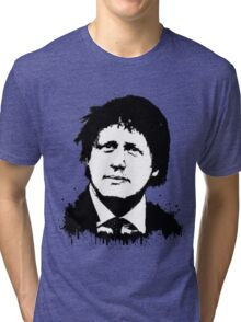 Boris Johnson / Che Guevara Black Hair Tri-blend T-Shirt