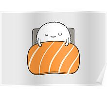 sleepy sushi bed Poster