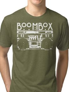 BOOMBOX Art by Bill Tracy Tri-blend T-Shirt