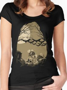 Woodland Wars Women's Fitted Scoop T-Shirt