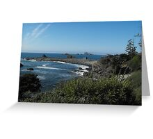 Blue Pacific Greeting Card