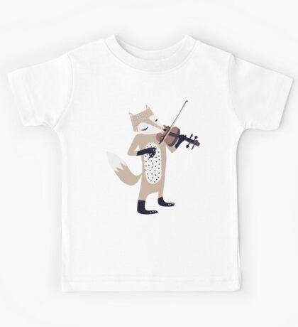 FOXY VIOLINIST Kids Tee