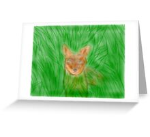 Sly Fox Greeting Card