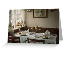 Luncheon table Roskilde 19610414 0099  Greeting Card