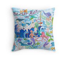 Mer Bar Throw Pillow