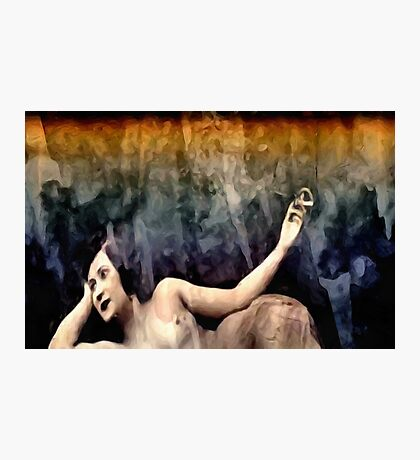 woman smoking a cigarette Photographic Print