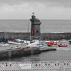 Lynmouth North Devon Selective colouring by SteveHphotos