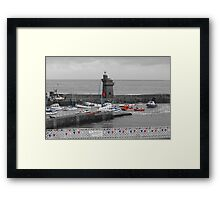 Lynmouth North Devon Selective colouring Framed Print