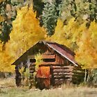 Old Cabin in Autumn  by Mary Warner