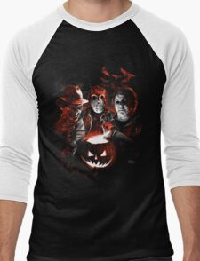 Super Villains Halloween Men's Baseball ¾ T-Shirt