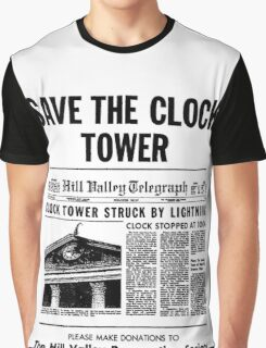 BTTF SAVE THE CLOCK TOWER Graphic T-Shirt