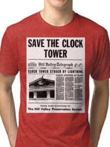 BTTF SAVE THE CLOCK TOWER Tri-blend T-Shirt