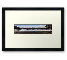 Lake Tekapo From Hot Springs Panorama Framed Print