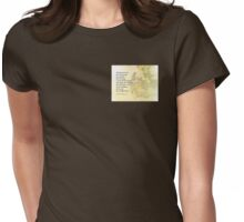 Serenity Prayer Pear Blossoms One Womens Fitted T-Shirt