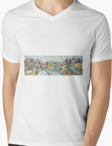 Once  upon a time there was a village on a hill Mens V-Neck T-Shirt