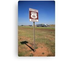 Route 66 - Oklahoma Shield Canvas Print