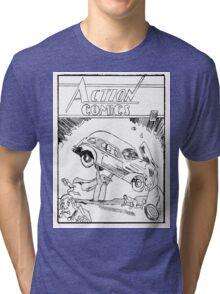 Pengiun Action comics Tri-blend T-Shirt