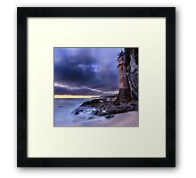 Victoria Beach Lighthouse at Night Framed Print