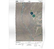 USGS Topo Map Washington State WA Coyote Butte 20110404 TM Poster
