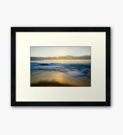 Sunset Shore Framed Print
