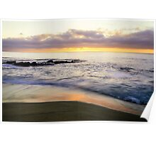 Sunset Shoreline Poster