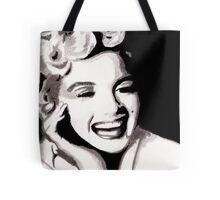 Marilyn Monroe - Portrait in India Ink by Guy Hoffman Tote Bag