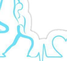 Listen to Your Body ECG Yoga Mantra Sticker