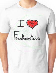 i love Frankenstein halloween   Unisex T-Shirt