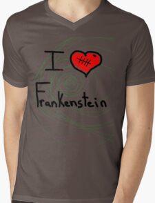 i love Frankenstein halloween   Mens V-Neck T-Shirt
