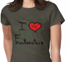i love Frankenstein halloween   Womens Fitted T-Shirt