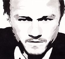 Heath Ledger - Portrait in India Ink by Guy Hoffman by Guy Hoffman (aka creative365)