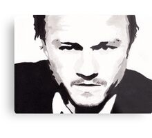 Heath Ledger - Portrait in India Ink by Guy Hoffman Metal Print