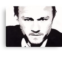 Heath Ledger - Portrait in India Ink by Guy Hoffman Canvas Print