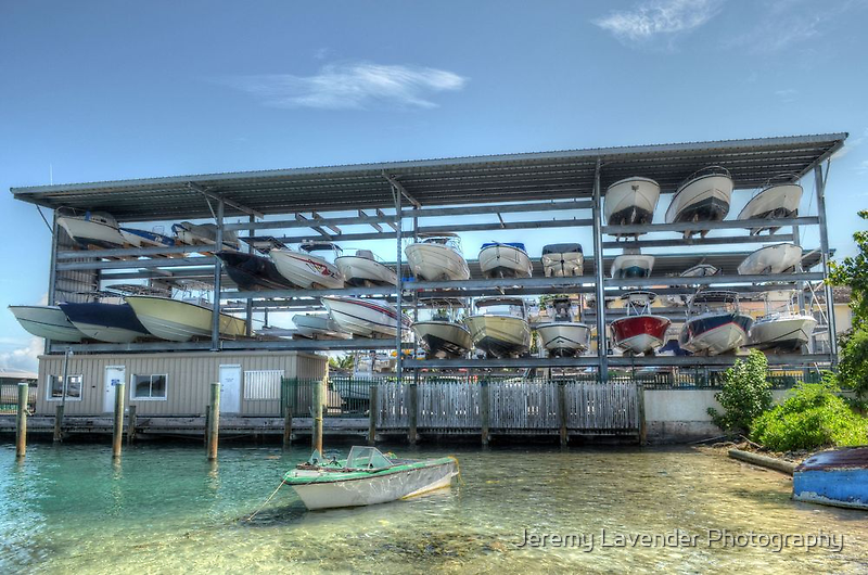Vertical Parking in Nassau, The Bahamas by Jeremy Lavender Photography