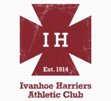 Ivanhoe Harriers T-Shirt – Worn Logo Design One Piece - Short Sleeve