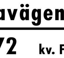 Sveavägen, Stockholm Street Sign, Sweden Sticker