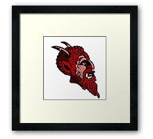 Satanic monster face Framed Print