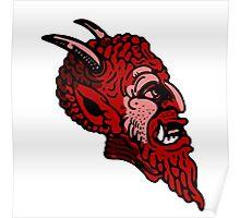Satanic monster face Poster
