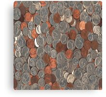 American Coins Canvas Print