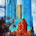 Gooderham Building Toronto Dowtown Painting by DiNovici