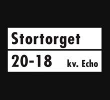 Stortorget, Stockholm Street Sign, Sweden Baby Tee