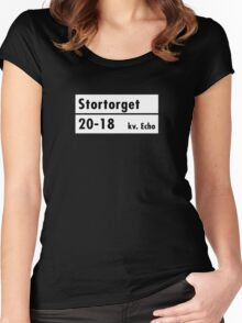 Stortorget, Stockholm Street Sign, Sweden Women's Fitted Scoop T-Shirt